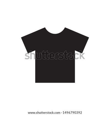 T-shirt icon vector. Shirt symbol. Linear style sign for mobile concept and web design. T-shirt symbol illustration. Pixel vector graphics - Vector.