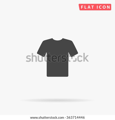T-shirt Icon Vector. Simple flat symbol. Perfect Black pictogram illustration on white background.