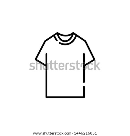 t-shirt icon vector. web design and mobile design. perfect t-shirt symbol. white background.