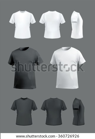 vector images illustrations and cliparts t shirt mockup set on