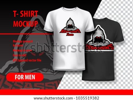 t shirt mockup with assassin s