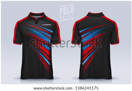 t-shirt polo templates design. uniform front and back view. ストックフォト ©
