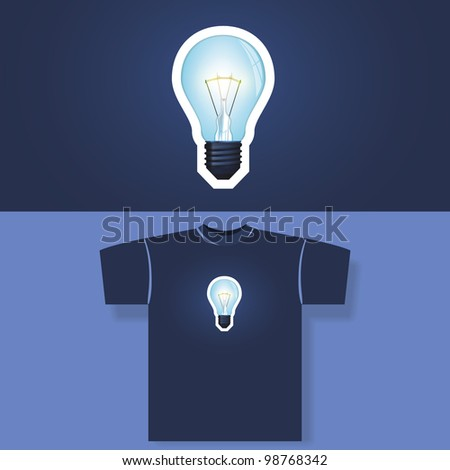 T-shirt print - stock vector
