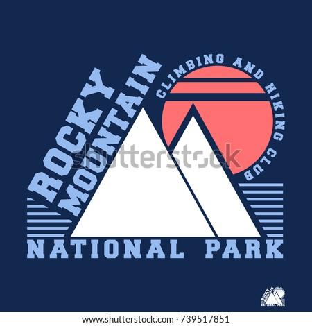 t shirt print design. rocky...