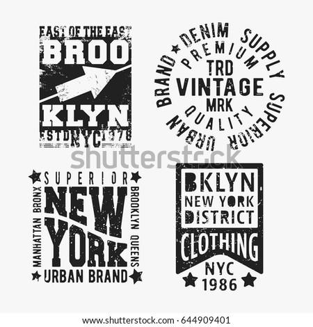 t shirt print design. set of...