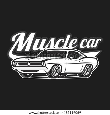American Muscle Cars T Shirt Print Template Ez Canvas