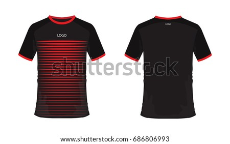 t shirt red and black soccer or