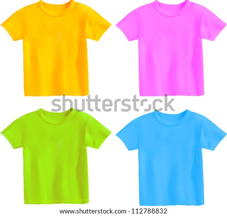 T-shirt set - stock vector
