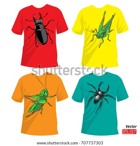 t shirt set  insects  print for