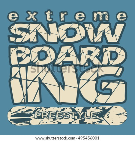 t shirt snowboarding  extreme