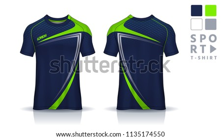 t-shirt sport design template,Soccer jersey mockup,uniform front and back view.