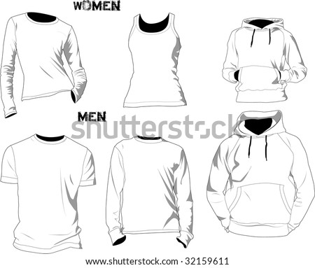 t shirt template vector. vector : T-shirt template