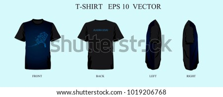 t shirt template abstract mash