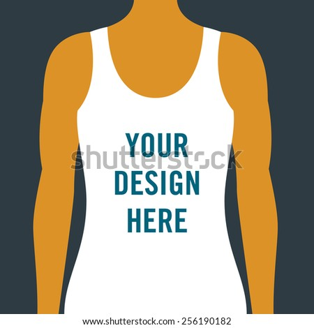 T shirt template for presenting apparel graphic tee for Athletic t shirt design ideas