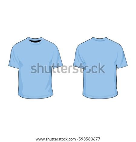 t shirt template light blue
