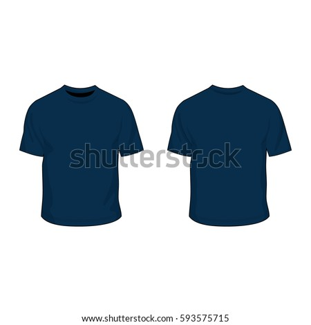 t shirt template navy blue