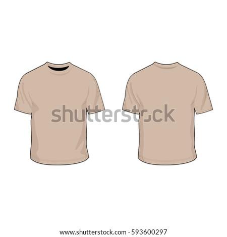 t shirt template prairie tan Stock fotó ©