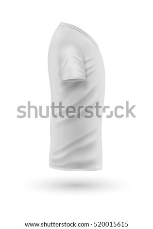Vector Images, Illustrations and Cliparts: T-shirt template, side ...
