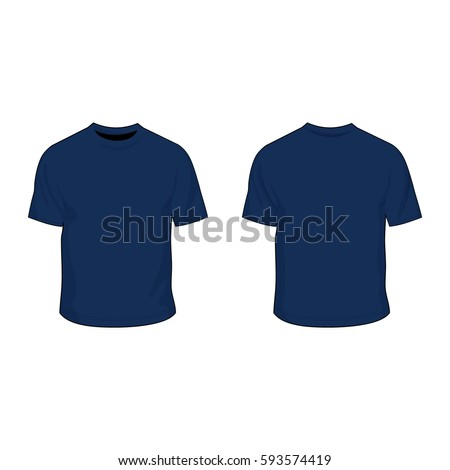 t shirt template uniform navy