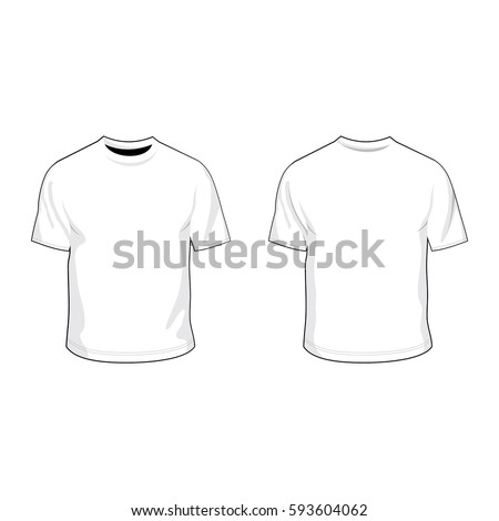 t shirt template white