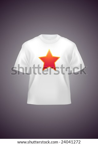 T-shirt unisex template (illustration contains gradient mesh elements!) - stock vector