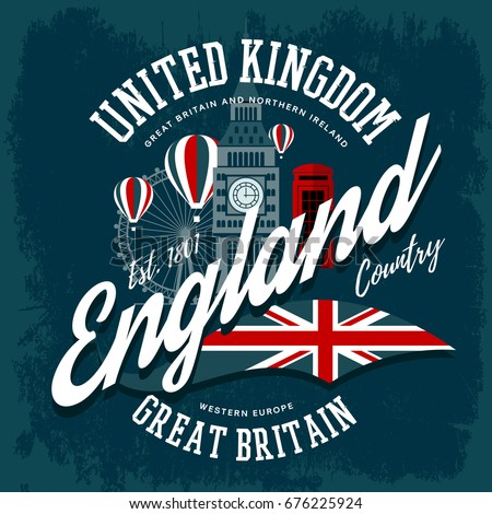 t shirt with england or britain