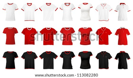 T-shirts and hats template