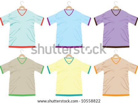 T-shirts are in the 6 different color
