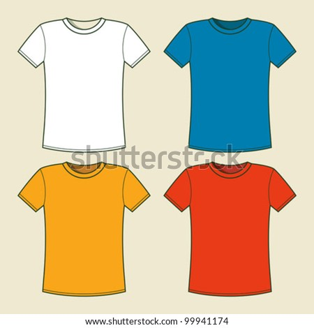 t shirt template with model - t shirt template and models free vector 4vector