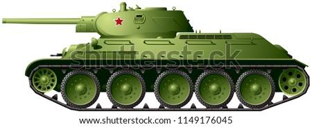 t 34 76 wwii battle tank model