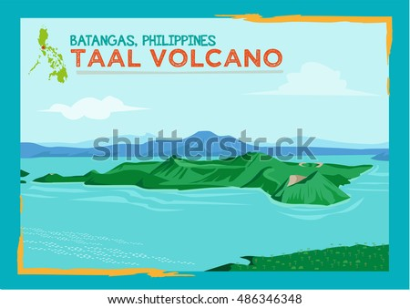 taal volcano situated in a lake