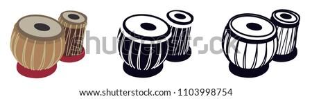 Tabla, Arabic, ORiental Musical Instrument - Vector Illustration Isolated Icon