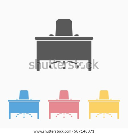 table and chair, office icon