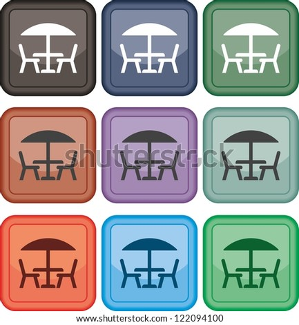 Table and chairs  icon  vector  Table Icon Vector
