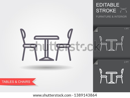 table and chairs outline icon