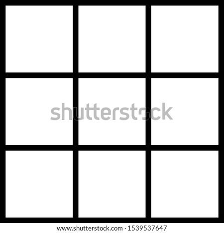 Table 9, Black line slot, xo game table ストックフォト ©