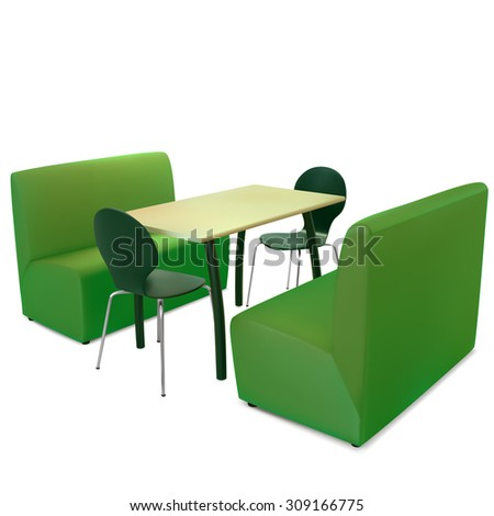 table  chairs and sofas in
