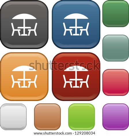 Table  chairs  icon  vector  Table Icon Vector