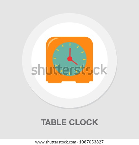 Table clock icon, timer alarm illustration. watch time sign symbol
