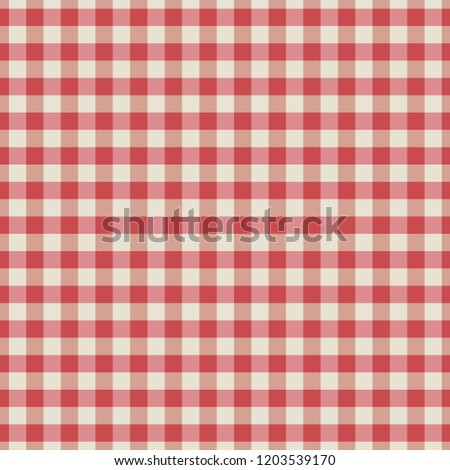 Table cloth seamless pattern red in line. Vector illustration.