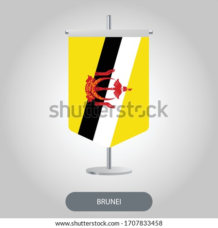 table flag of brunei  negara