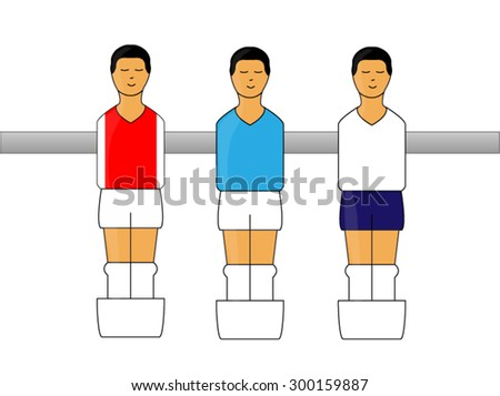 table football figures with