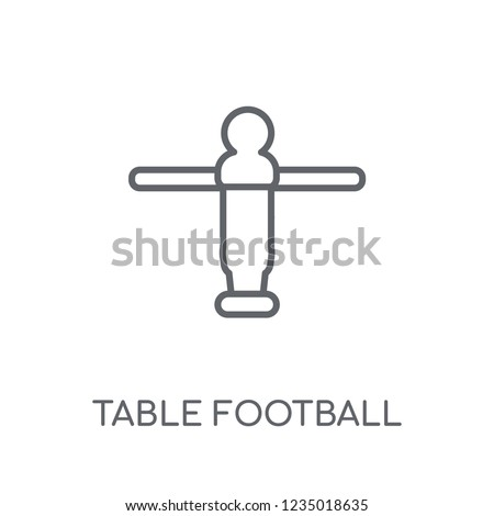 Table football linear icon. Modern outline Table football logo concept on white background from Entertainment and Arcade collection. Suitable for use on web apps, mobile apps and print media.