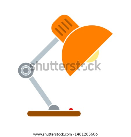 table lamp icon. flat illustration of table lamp vector icon. table lamp sign symbol