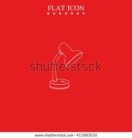 Table lamp icon. Lighting illustration. #415883026