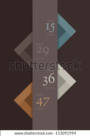 Table of content vector template