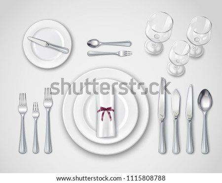 Dinner Table Setting - Download Free Vector Art, Stock Graphics & Images