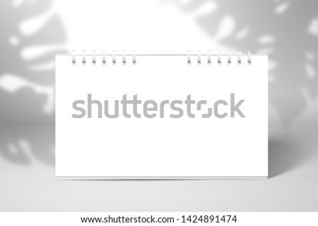 table spiral blank calendar