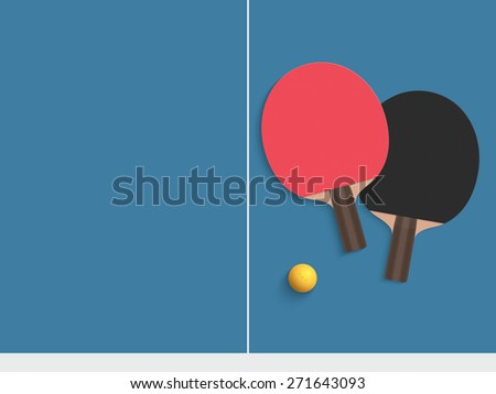 Free Rackets For Table Tennis Vector - Download Free Vectors
