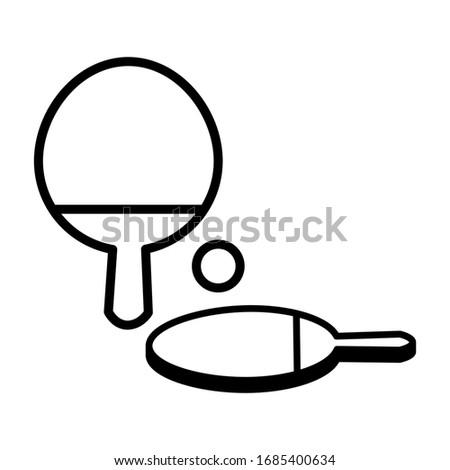 table tennis icon vector sign